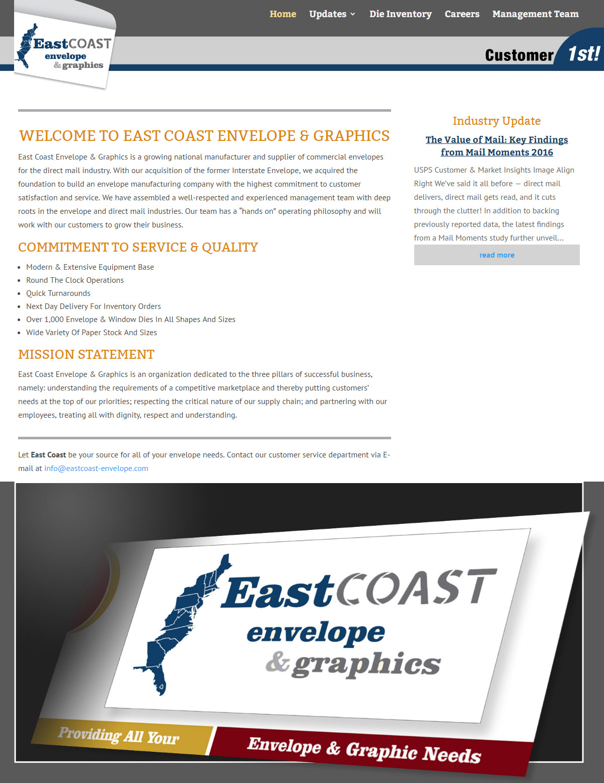 East Coast Envelope and Graphics
