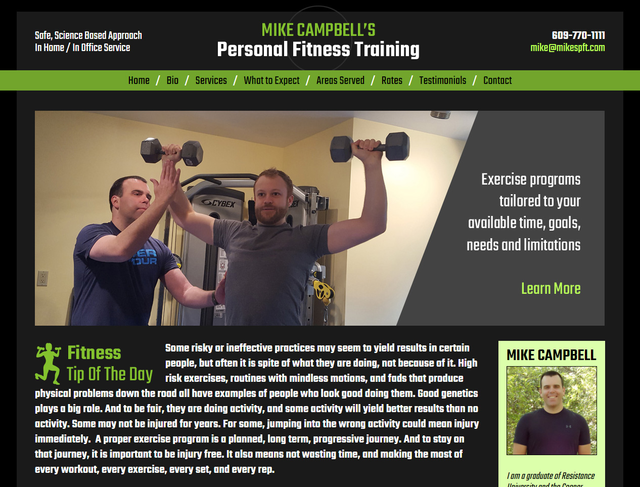 Mike Campbell's Personal Fitness Training